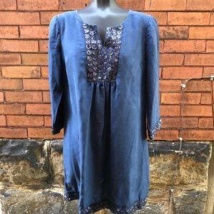 Boden limited edition embellished silk dress 10